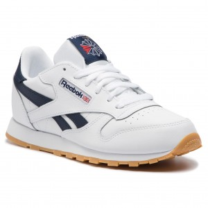 lowest price 74a5a bc84c Skor Reebok - Classic Leather DV4567 White Collegiate Navy Gum