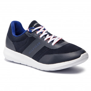 6973c1bbbf Sneakers TOMMY HILFIGER - Core Lightweight Mesh Runner FM0FM02183 Midnight  403