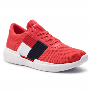 free shipping eb0d8 225df Sneakers TOMMY HILFIGER - Lightweight Runner Flag Knit FM0FM02275 Fiery Red  654