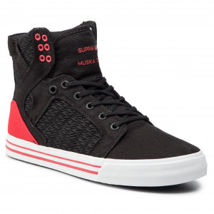 new concept 4e9ca 4ed53 Sneakers SUPRA Skytop 08002-064-M Black Pirate Black White