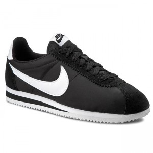 the latest 02886 1108d Skor NIKE - Classic Cortez Nylon 807472 011 Black White