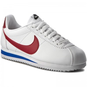 newest collection 09334 3619c Skor NIKE - Classic Cortez Leather 807471 103 White Varsity Red