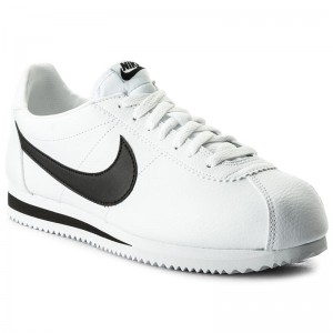 check out bd1be 0c80f Skor NIKE - Classic Cortez Leather 749571 100 White Black