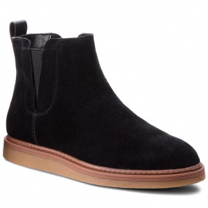 Boots CLARKS Dove Madeline 261372224 Black Suede Boots