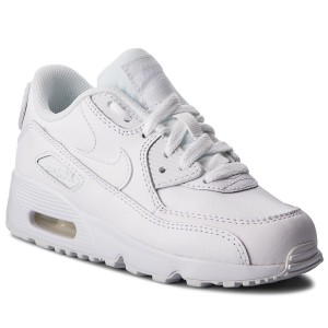 uk availability 39ad7 02827 Skor NIKE Air Max 90 Ltr (PS) 833414 100 White White
