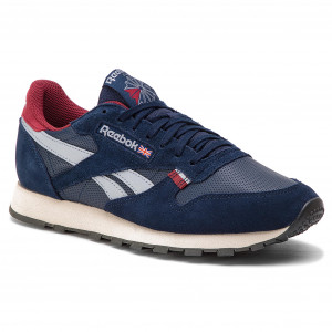 Skor Reebok CL Leather Mu CN7178 NavyRedStuccoGrey