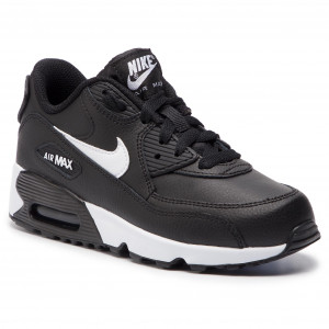 outlet store b5550 f86fa Skor NIKE Air Max 90 Ltr (PS) 833414 025 Black White Anthracite