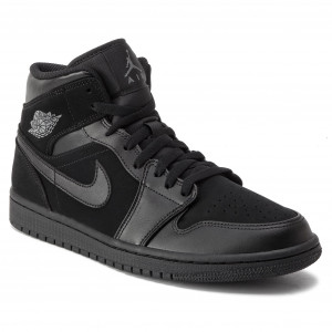 cheaper 1c7c6 926ef Skor NIKE - Air Jordan 1 Mid 554724 050 Black Dark Grey Black