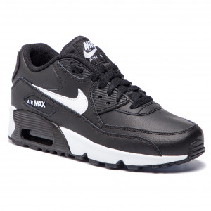 newest 3aa63 ffb73 Skor NIKE Air Max 90 Ltr 90 (GS) 833412 025 Black Whit Antracite